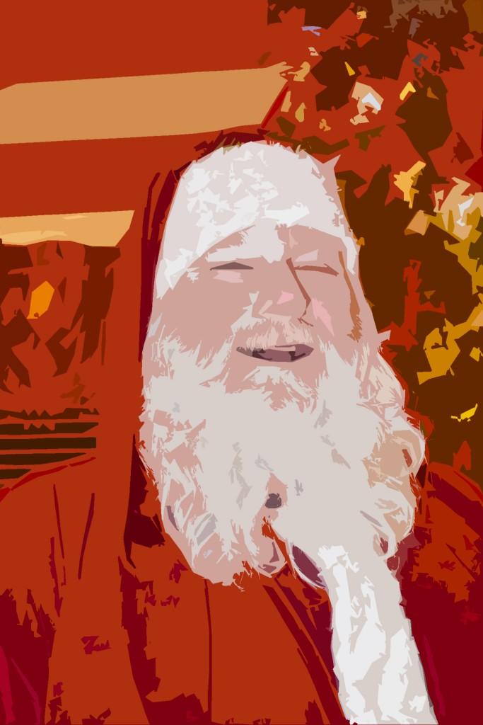 Santa Clint Painting