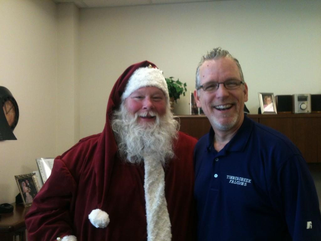 Principle Todd and Santa Clint