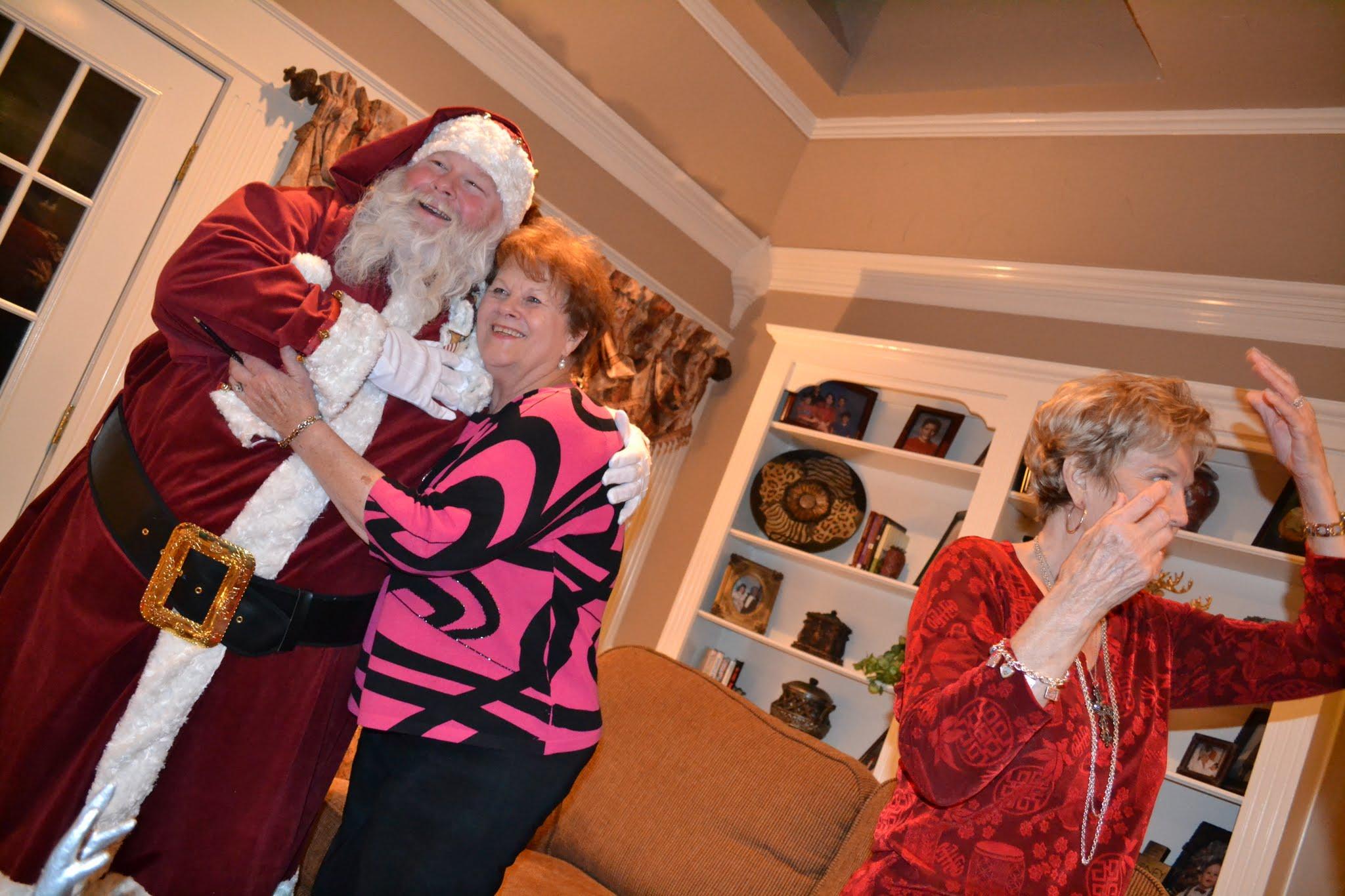 Santa Clint Giving Out Hugs